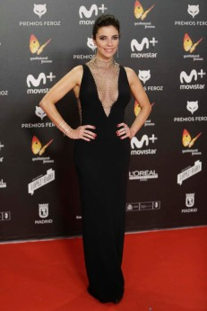 "Actress Maribel Verdu at the 5th annual Feroz Awards on Monday, Jan. 22, 2018, in Madrid en la foto : vestida por la firma "" Stella McCartney """