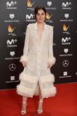 "Actress Nadia de Santiago at the 5th annual Feroz Awards on Monday, Jan. 22, 2018, in Madrid en la foto : vestida por la firma "" Teresa Helbig """