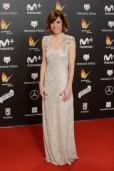 "Actress Alexandra Jimenez at the 5th annual Feroz Awards on Monday, Jan. 22, 2018, in Madrid en la foto : vestida por la firma "" Isabel Basaldua """